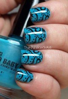 Paisley nails.