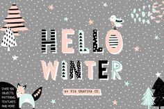 A set of over 120 cute design elements and seamless patterns for your winter holidays projects. Perfect for creating greeting cards, gift wrap, party invitations, scrapbooking and more.