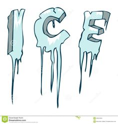 Illustration about Frozen Ice word, Vector Illustration on White Background. Illustration of typography, design, christmas - 59594084 Summer Camp Art, Word Drawings, Illustrated Words, Create This Book, Calligraphy Drawing, 6th Grade Art, Type Illustration, Typography Poster Design, Art Curriculum