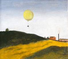 Kamil Lhoták   Balon, 1939   oil on canvas, 61 × 70 cm Oil On Canvas, Modern Art, Fine Art, Jackson, Paintings, Artists, Paint, Painting Art, Contemporary Art