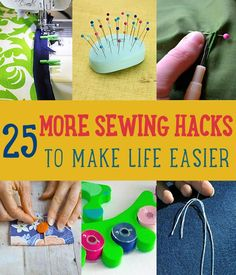 25 More Sewing Hacks to Make Life Easier by DIY Ready at http://diyready.com/sewing-ideas-life-hacks/