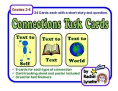 task cards, text connections