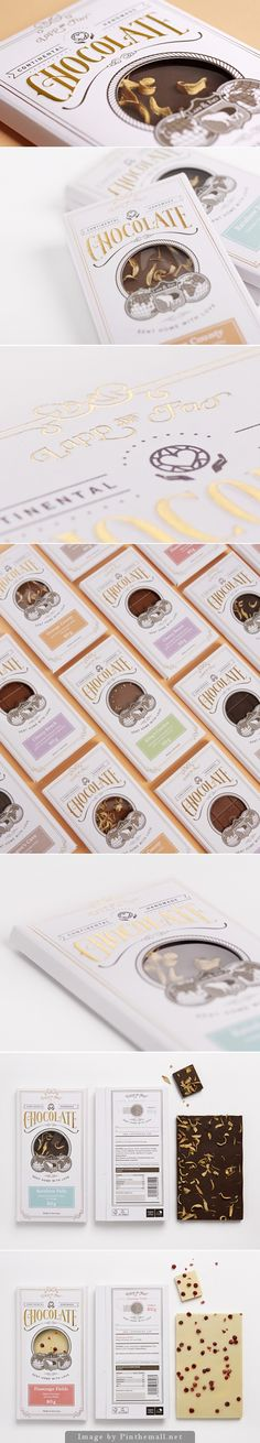 Vintage style chocolate packaging - Lapp & Fao Chocolate