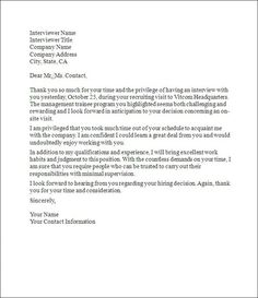 Interview Thank You Letter Template  Letter Templates Template