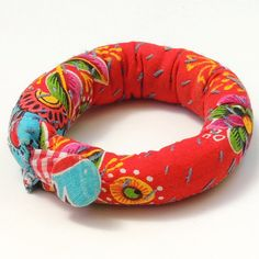 Woman's handmade fabric bracelet. by ATLIART on Etsy, $30.00