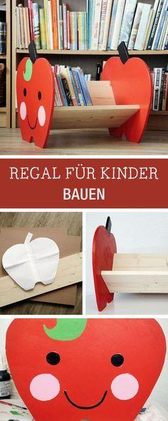 DIY Möbel: Witziges Regal für Kinder bauen / cute book shelf for kids, diy furniture via DaWanda.com