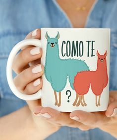 Another great find on #zulily! 'Como Te Llamas' Mug by Love you a Latte #zulilyfinds
