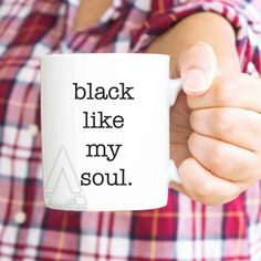 """Funny Coworker gift, christmas gifts for coworkers, """"black like my soul"""" office gifts, thank you gifts, coworker leaving, gift for him MU494 by artRuss on Etsy"""