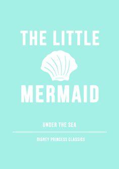Minimal Little Mermaid Poster