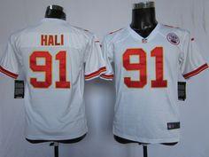 Kids Nike NFL Kansas City Chiefs #91 Tamba Hali White Jerseys