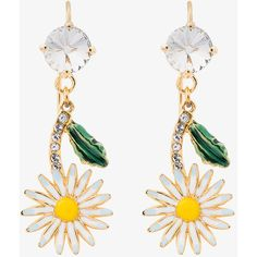 Miu Miu Daisy Earrings With Crystals (1840545 PYG) ❤ liked on Polyvore featuring jewelry, earrings, multicolour, tri color earrings, colorful jewelry, daisy jewelry, multicolor earrings and multi colored jewelry
