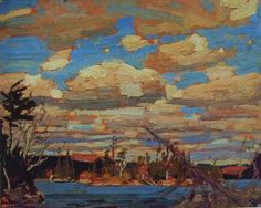 Quality print by Group Of Seven artist Tom Thomson - Ragged Lake; Made In Canada. Group Of Seven Art, Group Of Seven Paintings, Paintings I Love, Emily Carr, Canadian Painters, Canadian Artists, Landscape Art, Landscape Paintings, Tom Thomson Paintings