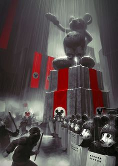 Mickey No More, Vladimir 'Bopchara'. I'm anti-Disney for economic, political, sexist and oppressive reasons. Arte Nerd, Nerd Art, Art Et Illustration, Illustrations, Disney Concept Art, Disney Art, Walt Disney, Mickey Mouse, Pc Mouse