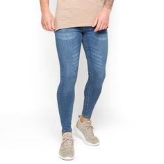 Super Skinny Spray On Jeans - Dark Blue Non-Ripped