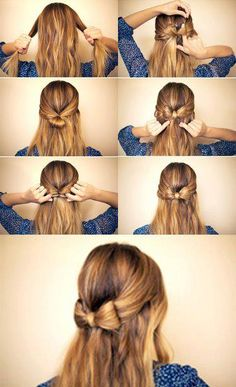 Schleife im Haar ;)