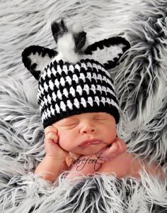 zebra hat by KnitTillDeath on Etsy, $20.00