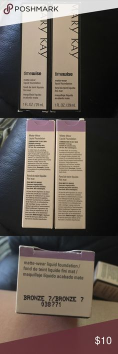 Mary Kay Liquid Foundation Bronze 7 New in box! $10 each or make an offer for multiple! Mary Kay Makeup Foundation