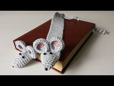 Zakładka do książki na szydełku zakładka myszka 1/2 - YouTube