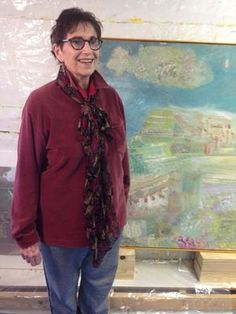 """Bascha Mon. """"Water-2 Degrees of Separation"""" Solo show in the Main Galllery at the Port Washington Library, May 2-31, 2015."""
