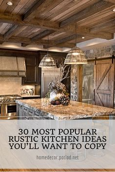 15 Elegant Rustic Farmhouse Kitchen Cabinets Ideas - Home Design Home Roof Design, Rustic Home Design, Unique House Design, Minimalist House Design, Dream Home Design, Minimalist Home, Latest House Designs, New Home Designs, Cool House Designs
