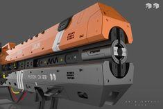 ArtStation - Laser Weapon - Fusion DX 23, Amin Akhshi