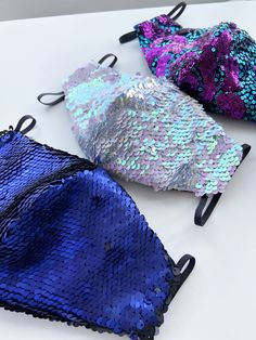 Soft Purple, Teal Blue, Aqua, Mermaid Sequin, Mask Party, Pink Sequin, Party Packs, Iridescent, Fun Time