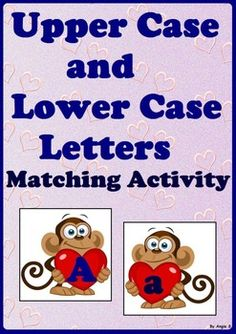 Upper Case & Lower Case Letter Matching Activity - Monkeys For more resources follow https://www.pinterest.com/angelajuvic/autism-special-education-resources-angie-s-tpt-sto/