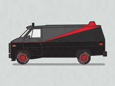 A-Team Van designed by Scott Martin. A Team Van, Chevy Van, Van Design, Back In My Day, Vans, The A Team, Favorite Tv Shows, Hot Rods, Survival