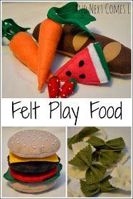 Felt Play Food / Lebensmittel für Spielküche aus Filz