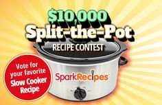 Vote for the best slow cooker recipe in America, and we'll give $5,000 to a hunger-relief charity. Here's how. | via @SparkPeople #contest #crockpot