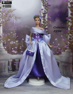 "Robe Barbie "" Abygaëlle "" Vêtement pour poupée Barbie Silkstone Fashion Royalty Muse f3788"