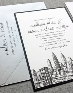 NYC inspired wedding invitations