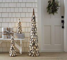 Lit Glitter Birch Tree | Pottery Barn AU