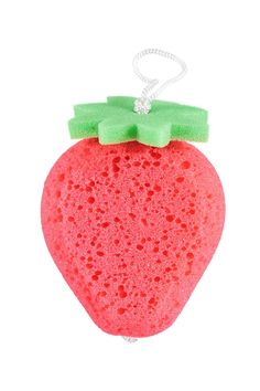Style Deals - An exfoliating bath sponge in the shape of a strawberry. Shop Forever, Forever 21, Bath Sponges, Bath And Body Works Perfume, Barbie Birthday, Body Cleanser, Grooming Kit, The Body Shop, Things To Buy