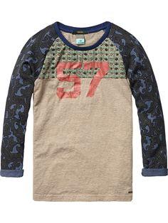 Mix & match T-shirt met print - Scotch & Soda Inspiration For Kids, Scotch Soda, Mix Match, Boy Fashion, Cute Boys, Sweatshirts, Tees, Long Sleeve, Nova