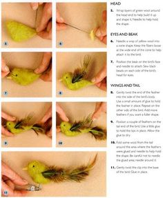 How to make a felted bird clip ornament