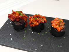 Seasonal offerings may include grilled #BlackPudding with piquillo peppers at Sagardi BCN Gòtic in #Barcelona, Spain.