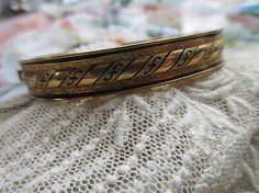 Antique Gold Fill Bangle Bracelet  Antique Gold Fill Jewelry
