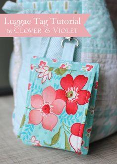Clover & Violet — Luggage Tag Tutorial {Back to School at Ellison Lane}