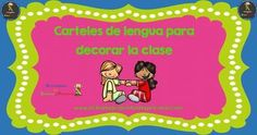 Carteles de lengua para decorar la clase Fictional Characters, Index Cards, Poster, Activities, Fantasy Characters