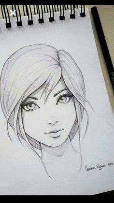 Please visit our website for more Anime Art Dessin de fille Pencil Art Drawings, Art Drawings Sketches, Cartoon Drawings, Easy Drawings, Girl Drawings, Funny Drawings, Realistic Drawings, Drawing Tips, Drawing Drawing