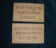 Two small Victorian punched paper samplers for framing