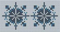 snowflakes knitting charts - Google Search