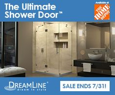 DreamLine Showers: Ultimate Shower Doors now available in Home Depot Master Bath Remodel, House Styles, Upstairs Bathrooms, Dreamline, Bath Remodel, Home Remodeling, Dream Bathrooms, Beautiful Bathrooms, Glass Shower Doors