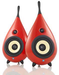 Red drop speakers