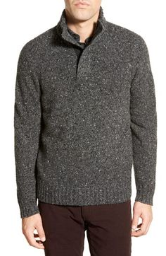 Bonobos 'Donegal' Mock Neck Wool Blend Sweater available at #Nordstrom