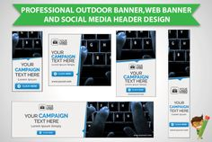 design professional BANNER and header by ilovessasa