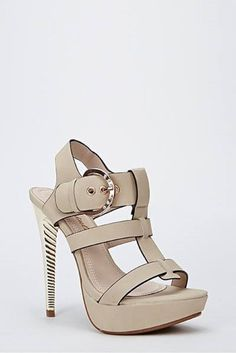 Womens Ladies Beige Platform Diamante High Heel Strappy Shoes Size UK 4,5,7 New  Click On Link To Visit My Ebay Shop http://stores.ebay.co.uk/all-about-feet  Useful Info:  - Standard Size - Standard Fit - By Via Giulia - Beige In Colour - Heel Height: 5.5 Inches - Platform: 1 Inch  - Large Buckle With Diamantes - Gold Heel  - Ideal For Any Occasion #shoes #beige #highheel #highheels #strappy #buckle #diamante #platform #fashion #footwear #forsale #womens #ladies #ebay #ebayseller #ebayshop