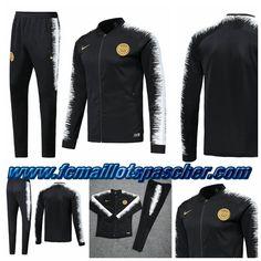 112ed869cb4 Magasin Nike Survetement Homme - Veste PSG Noir Blanc 2018 2019 Thailande