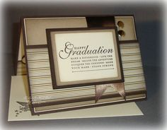 Graduation  Brown & Cream Highschool or College by BondGirlCreations26 on etsy.